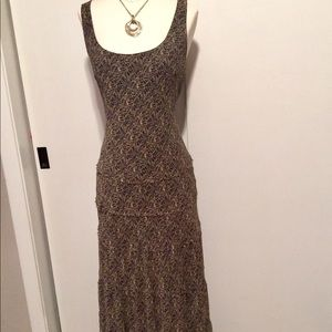 Jones New York silk maxi dress